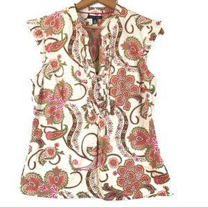 Tommy Hilfiger Paisley Floral Sleeveless Blouse M